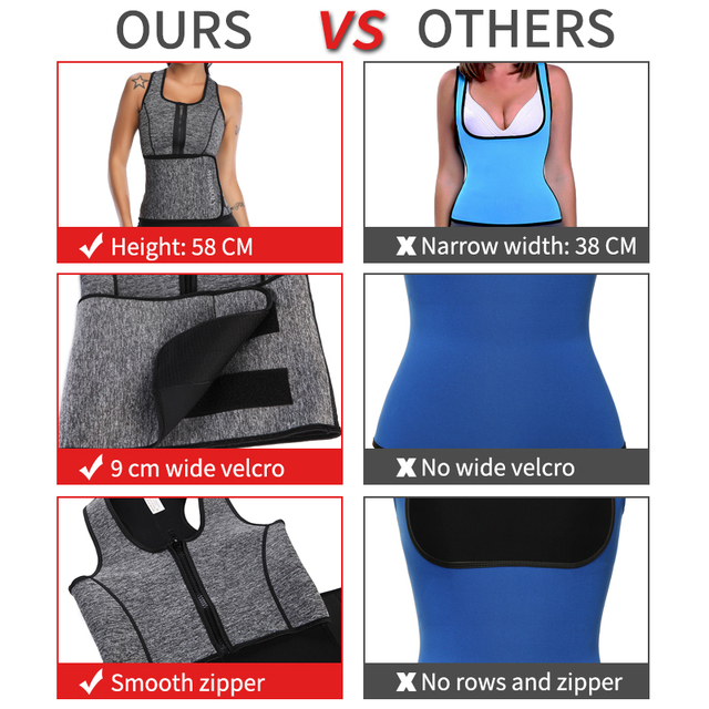 Neoprene Sauna Waist Trainer Vest  Shaper Summer Workout Shaperwear Slimming Adjustable Sweat Belt Fajas Body Shaper 4