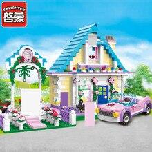 Enlighten City Marriage Room Villa Wedding Bride Bridegroom Assembling Building Block Set Minifigures Compatible With Le-go