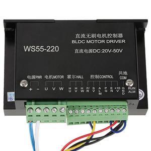 Image 2 - WS55 220 controlador do motorista do motor dc 48v 500w cnc sem escova do eixo bldc controlador do motorista do motor com cabo