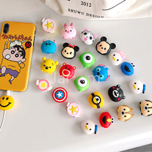 wholesale socket car phone holder Cartoon Protector Cable Cord Saver Cover Coque For iPhone 8 Plus 5 5S SE 5C 6 6S 7 X Xs Max XR