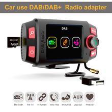 2.4 colorful display colorido carro dab +/dab adaptador de rádio transmissor fm com bluetooth mãos livres e reprodução de música carro kit mp3 player