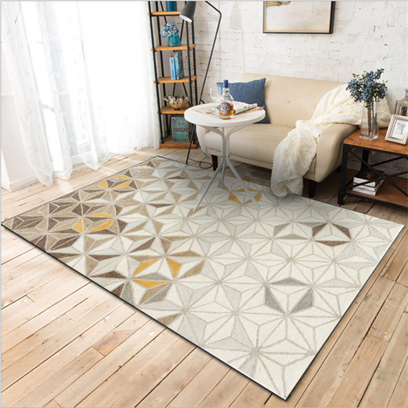 AOVOLL Area Rug For Living Room Europe And America Abstract Modern Brown Solid Carpet Floor Mat Christmas Rug Hand Wash