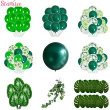 цена на Staraise Green Foil Latex Balloon  for Jungle Safari Birthday Party Baby Shower Decor Kids Birthday Safari Party Supplies