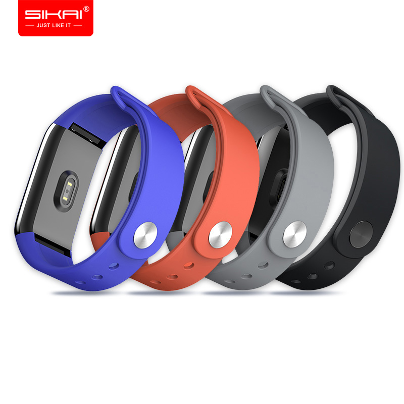 Banda Alça de pulso para Amazônia Cor para Xiaomi Huami A1702 SIKAI Silicone inteligente pulseira Pulseiras Acessórios de fitness Preto