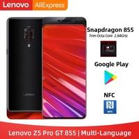 Original Lenovo Z5 Pro GT Snapdragon 855 Smartphone 6GB 8GB RAM 256GB ROM 6.39'' In Screen Fingerprint Android 24MP NFC