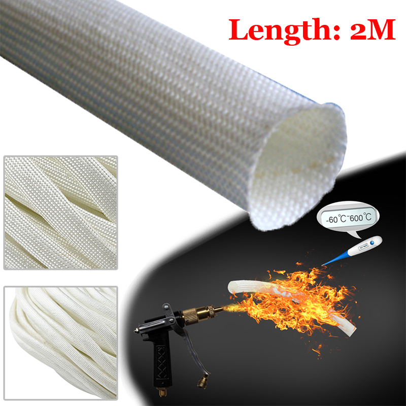 2020 Glass Fibre Thermal Insulation 2M Length White For Webasto Eberspacher  For 22mm & 24mm Exhaust Pipe