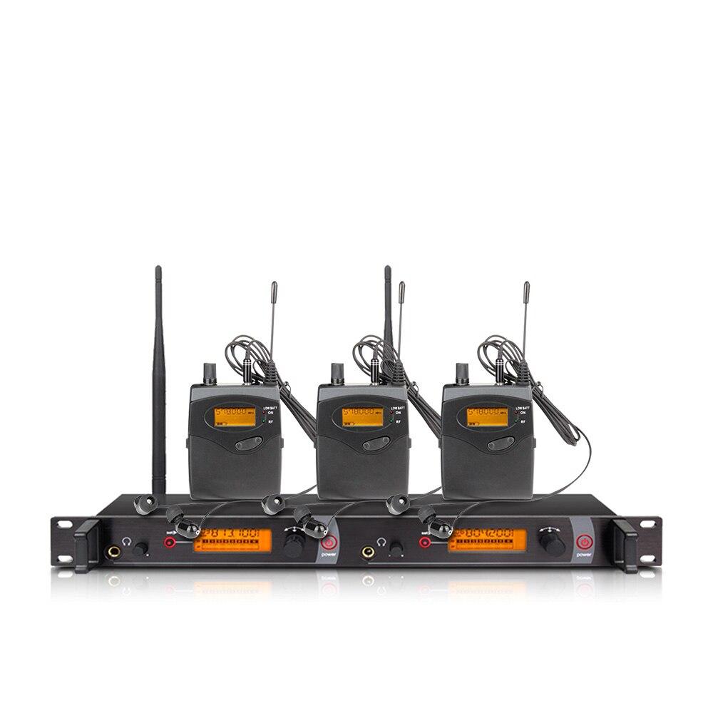 Ohr überwachung wireless system mit 3 empfänger EM2050 bühne monitor ear monitoring system 2 ear monitoring system