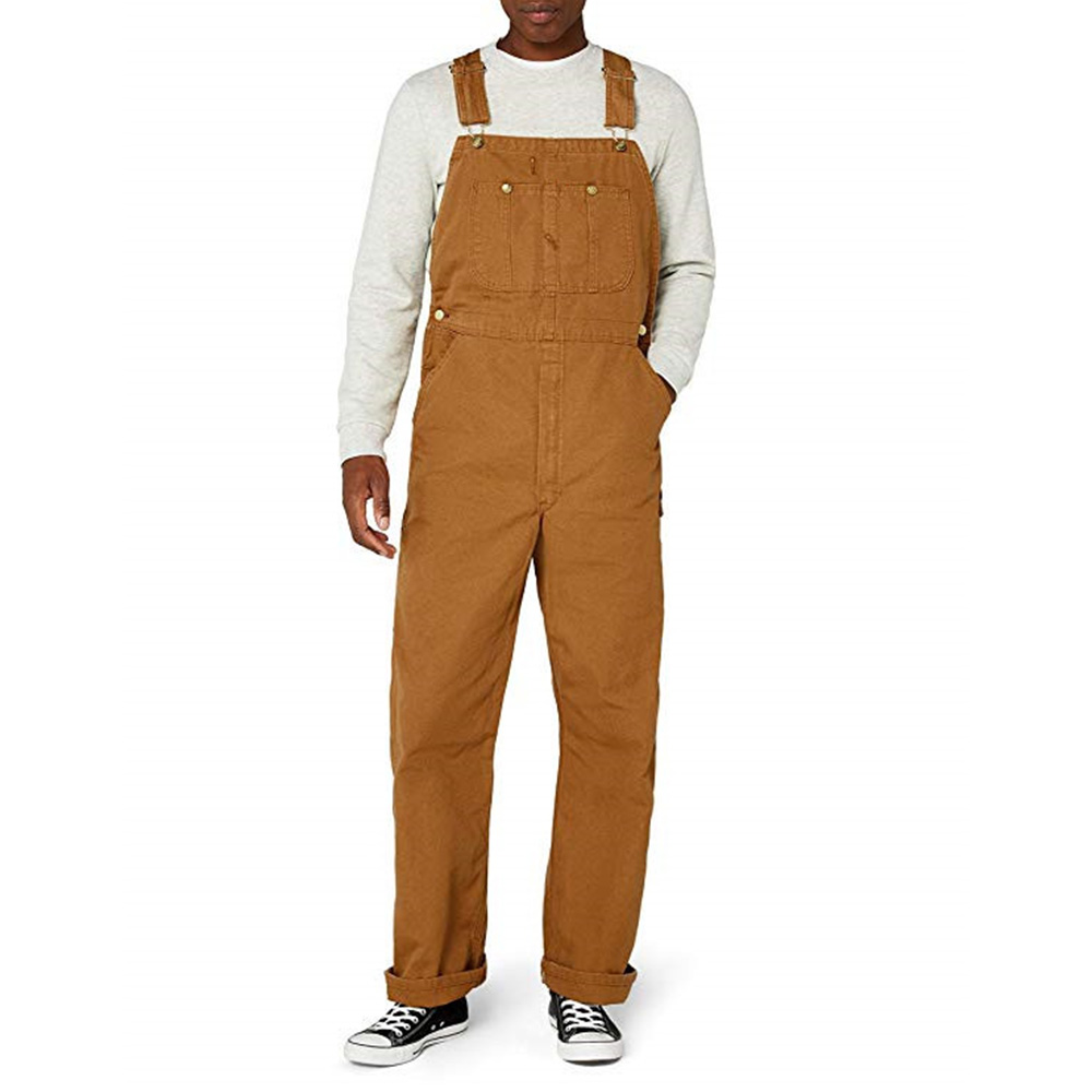 Men's Bib Pants Vintage Loose Men Denim Jumpsuit 2019 Autumn Winter Retro Jeans Cargo Pants Overalls Brand Male Dungarees D20