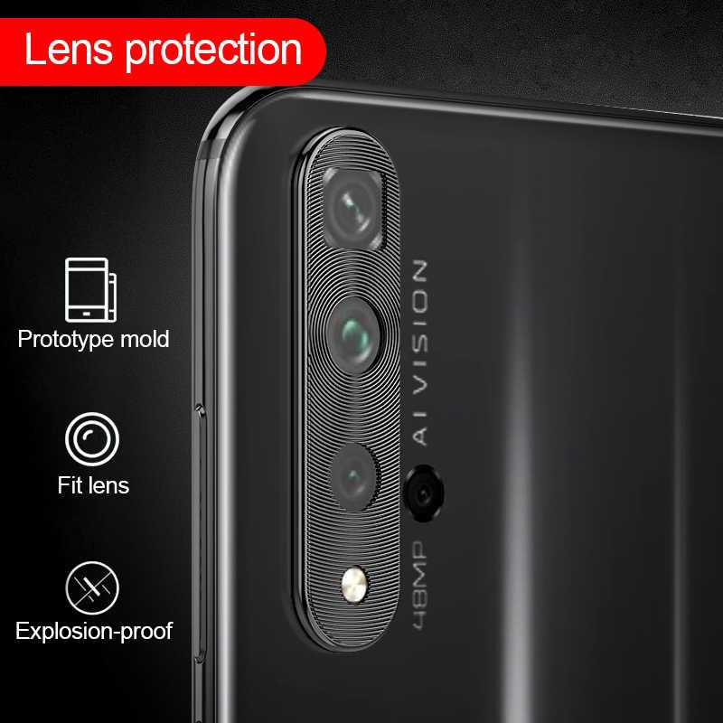 Pelindung Lensa Kamera Kehormatan 20 S 20 Pro Case Telepon Logam Lensa Cincin Pelindung Cover untuk Huawei Nova 5 T P20 p30 Pro P40 Lite Cover