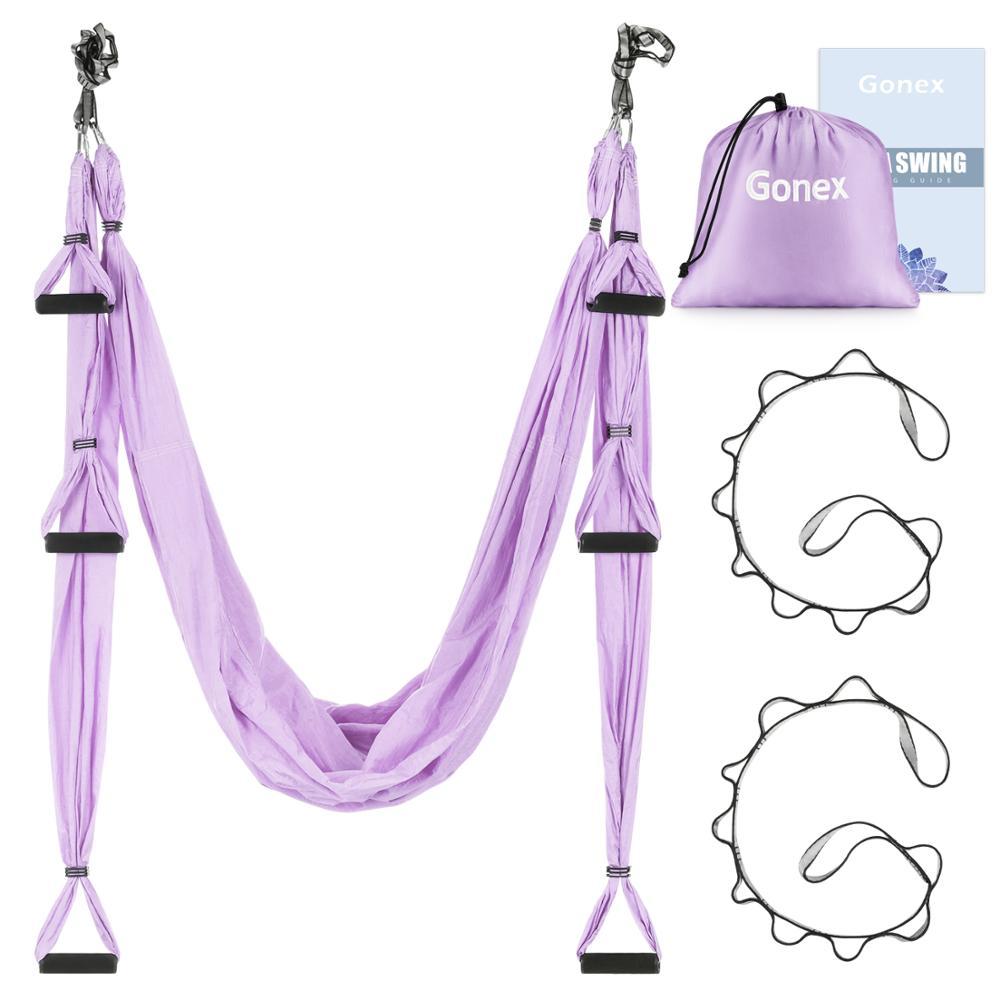 Yoga Swing Set Yoga Hammock Antigravity Ceiling Hanging Sling Resistance Band US