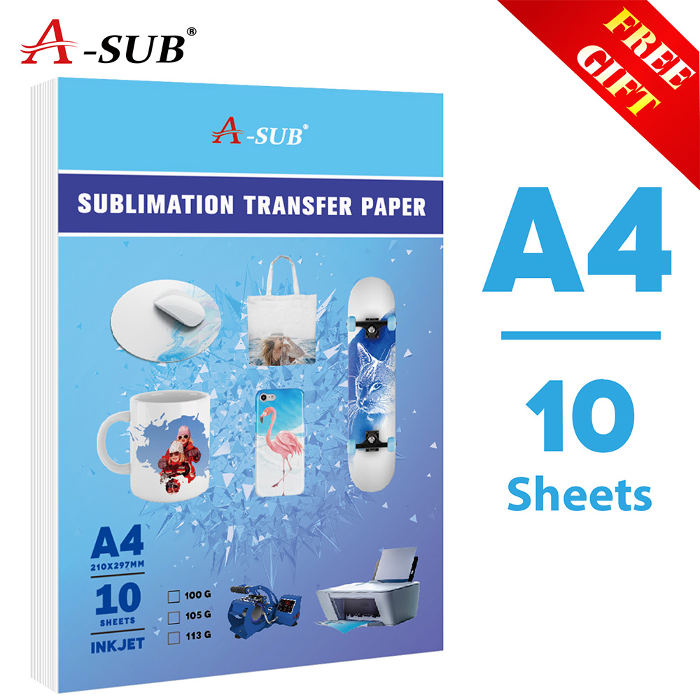 Heat-Transfer-Paper Inkjet-Printer Letter-Size A4 10sheets for Any with Sublimation-Ink