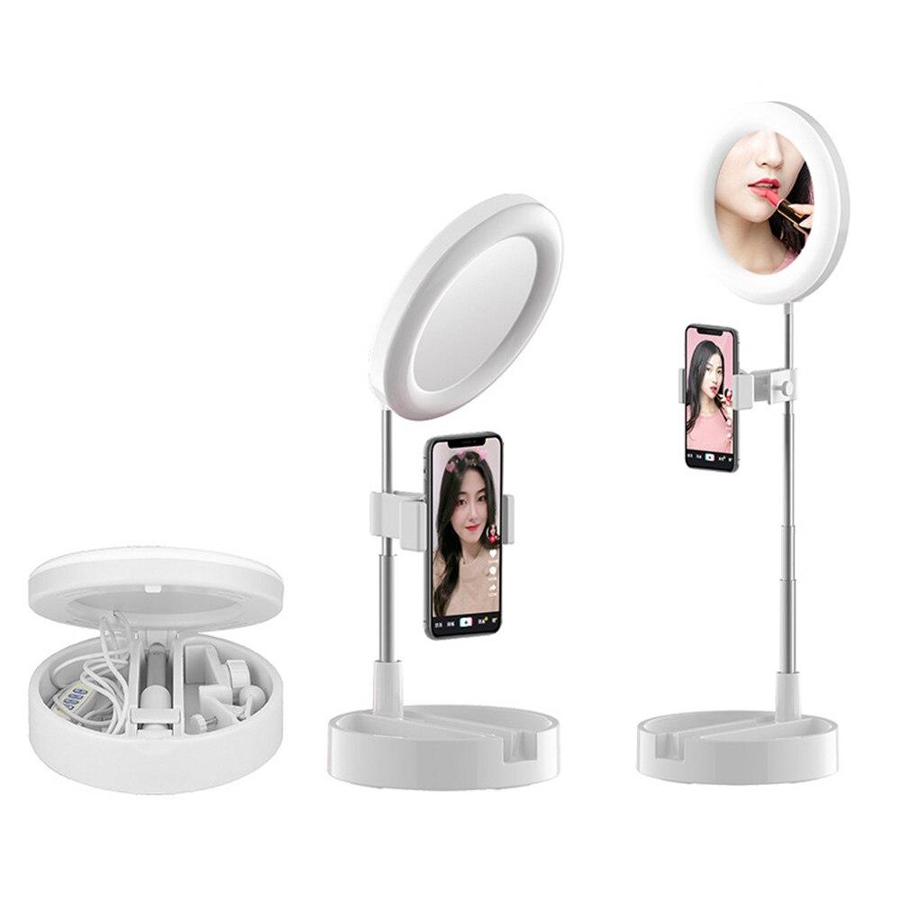 Кольцо лампы видео свет 30/58см Сид Dimmable селфи кольцо USB света фотографии свет штатив для телефона макияжа Ютуб тик ток