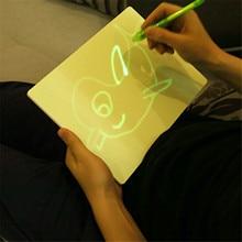 Magic Draw Board Fun Fluorescent Painting Board Children Writing Luminous Board 3d Educational