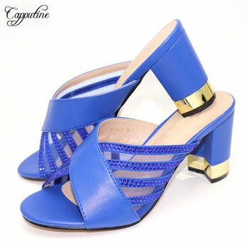 Elegant Royal Blue Wedding/Party High Heel Sandal Shoes 1818-3, Heel Height 9CM, 5 Color