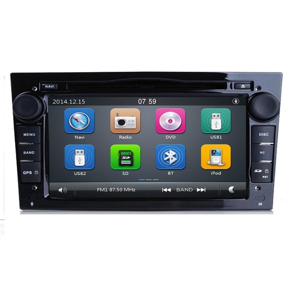 7 2 DIN CAR GPS for opel Vauxhall Astra H G J Vectra Antara Zafira Corsa Vivaro Meriva Veda DVD PLAYER black/silver/grey frame