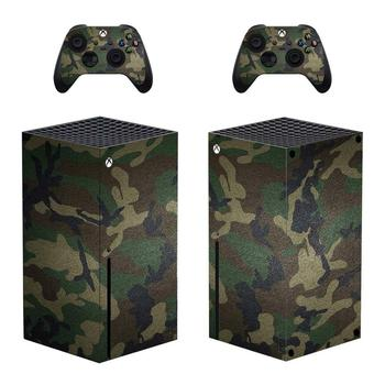 Camo Color Skin Sticker Decal Cover for Xbox Series X Console and 2 Controllers Xbox Series X Skin Sticker Vinyl 1