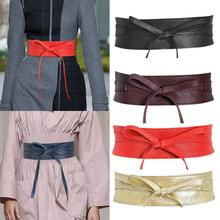 Bow Tie Clothing Accessories Belt All-match Wide Girdle Black Pu Wide Belt Ladies a Must-have Girdle for Women