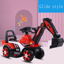 Children's electric car toy engineering car  old toy battery double drive with remote control knight excavator Russia free shipp