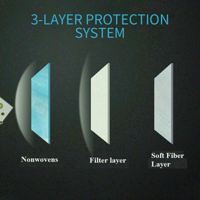 5Pcs 3 Layer Mask maska antywirusowa ffp3 mask for flu 5
