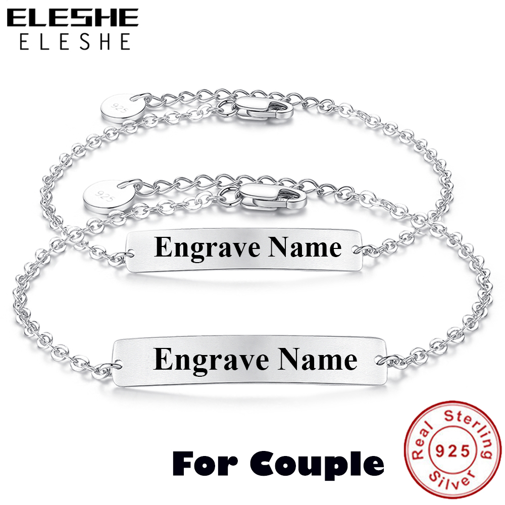 Eleshe Personalized 925 Sterling Silver