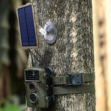 Caméra de chasse plein air batterie panneau solaire chargeur dalimentation panneau externe alimentation pour caméra sauvage Photo pièges H801 H885 H9 H3 H