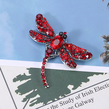 Beadsland Alloy Inlaid Rhinestone Brooch Dragonfly Modeling Fashionable High-end Clothing Accessories Pin Woman Gift MM-996