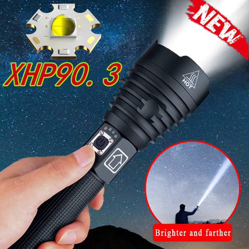 Aliexpress11.11 XHP90.3 Most Powerful Flashlight USB Zoom LED Torch XHP70.2 Tactical Lights  26650 Hunting Xlamp Self Defense