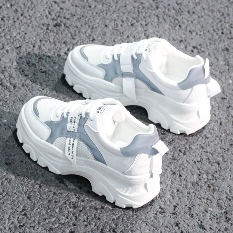 KAMUCC / New; Women's Sneakers On The Platform; Breathable Women's Casual Shoes; Fashionable Women's Shoes That Increase Height;