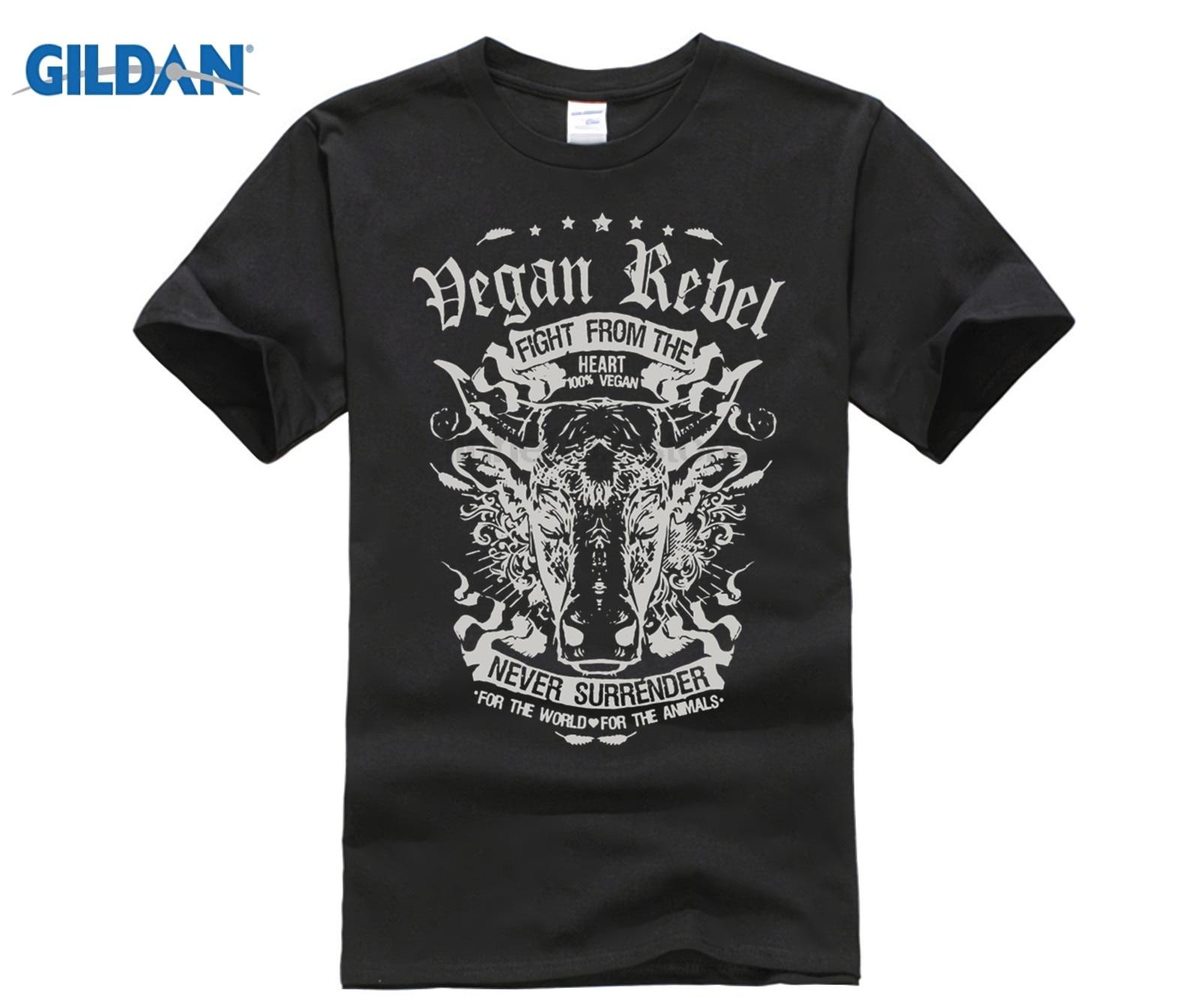 Funky Tee Shirts Vegan Rebel Cow Vegetarian Men's Organnic Cotton Tees 3d Printed Man Unique T Shirts