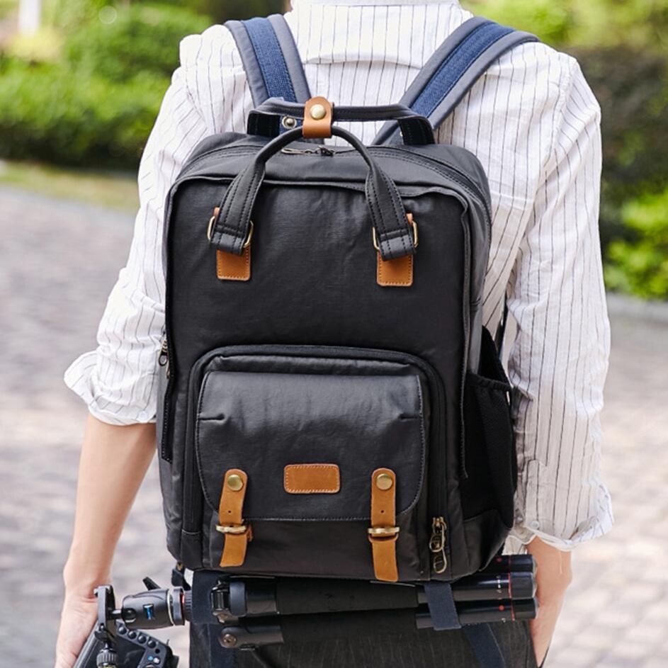 Color : C Camera Bag SLR Backpack Digital Camera Bag Layered Backpack