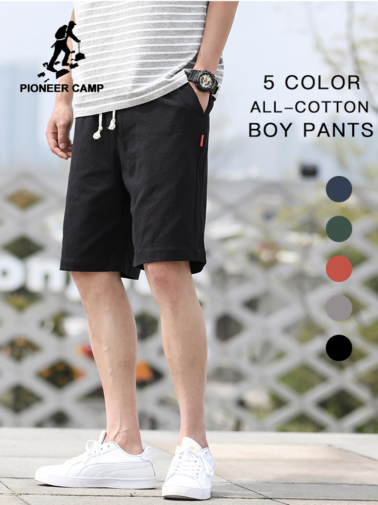 Pioneer Camp 2020 Summer Mens Shorts Pants 100% Cotton Solid Color Casual Streetwear Fashion Men's Shorts Dropshipping ADK901184