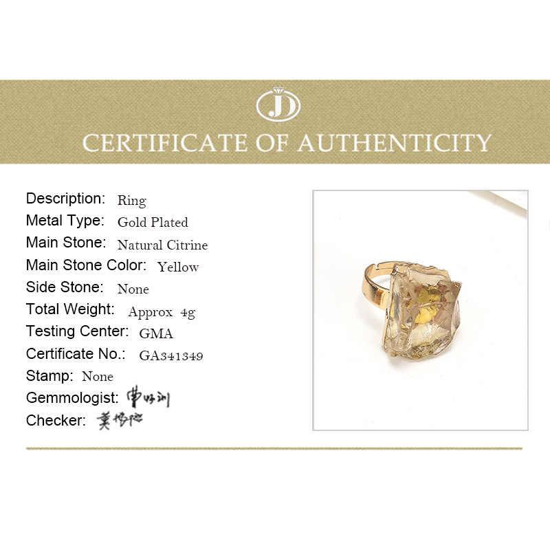 Jd Paars Quartz Verstelbare Ring Onregelmatige Natuurlijke Ruwe Steen Kristallen Druse Sieraden Vrouwen Geen Vinger Grootte Beperkte Goud Kleur