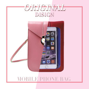Touchable PU leather change bag For iPhone 11 pro max Xs X Samsung S9 Huawei Pocket Bag Outdoor Arm Shoulder Cover Case Arm Band
