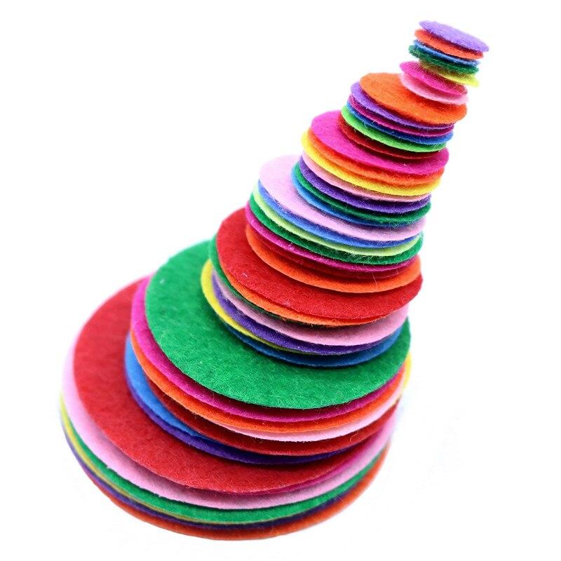 99 Pcs Handmade Felt Diy Crafts For Kids Wool Felt Leaves Felt Trees Roses Tire Appliques Scrapbook Material Sewing Accessories