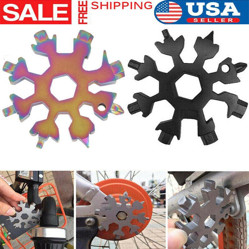 1 Pcs Multi-function Tool Snowflake 18-1 Multi Tool Snow Flake Steel Shape Flat Cross Household Hand Tool Stainless Steel