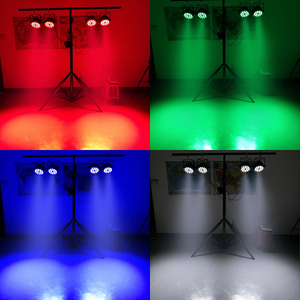 Image 5 - 18x12W RGBW Led Par Light DMX Stage Lights Business Lights Professional Flat Par Can for Party KTV Disco DJ Uplighting
