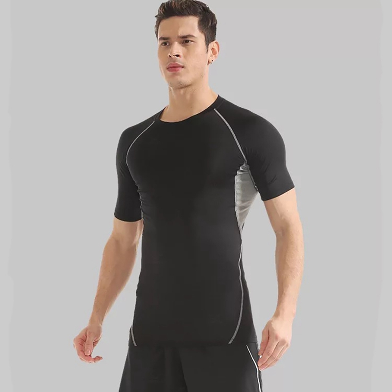 Men's Brand Men Short Sleeve T-Shirt Men O Neck Quick Drying Casual Tight Tee Tops Fitness Apparel Sportswear New