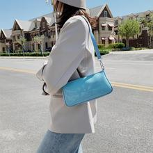Candy Color PU Leather Shoulder Messenger Bags For Women 2020 Small Cloud Clutch Crossbody Bag Travel Chain Handbags Tote Bag fashionable women s pu cover opening messenger bag tote bag w chain silver