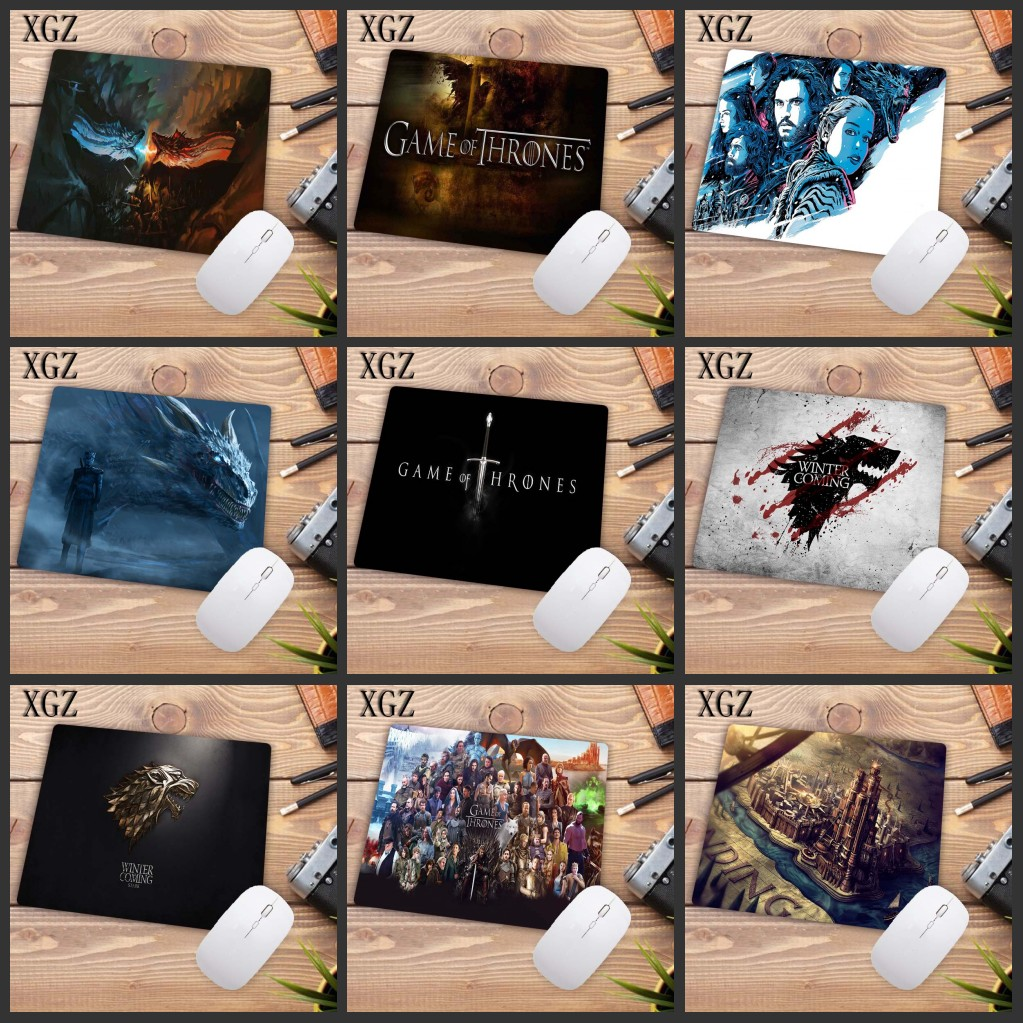 XGZ Game Of Thrones A Song Of Ice And Fire Rubber Table Mouse Pad Laptop Computer Keyboard Mousepad Mat Size 18x22cm Promotion