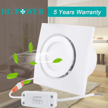 4 Strong Ventilation Exhaust Fan Cooker Hood Extractor Wall Mount Ceiling Fans Built-in 10W Led Light Driver