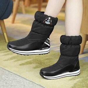 Image 4 - FEDONAS yeni kadın Flats platformları kış sıcak kar botları kaliteli su geçirmez ayakkabı kadın kadın yüksek orta buzağı Boots ayakkabı