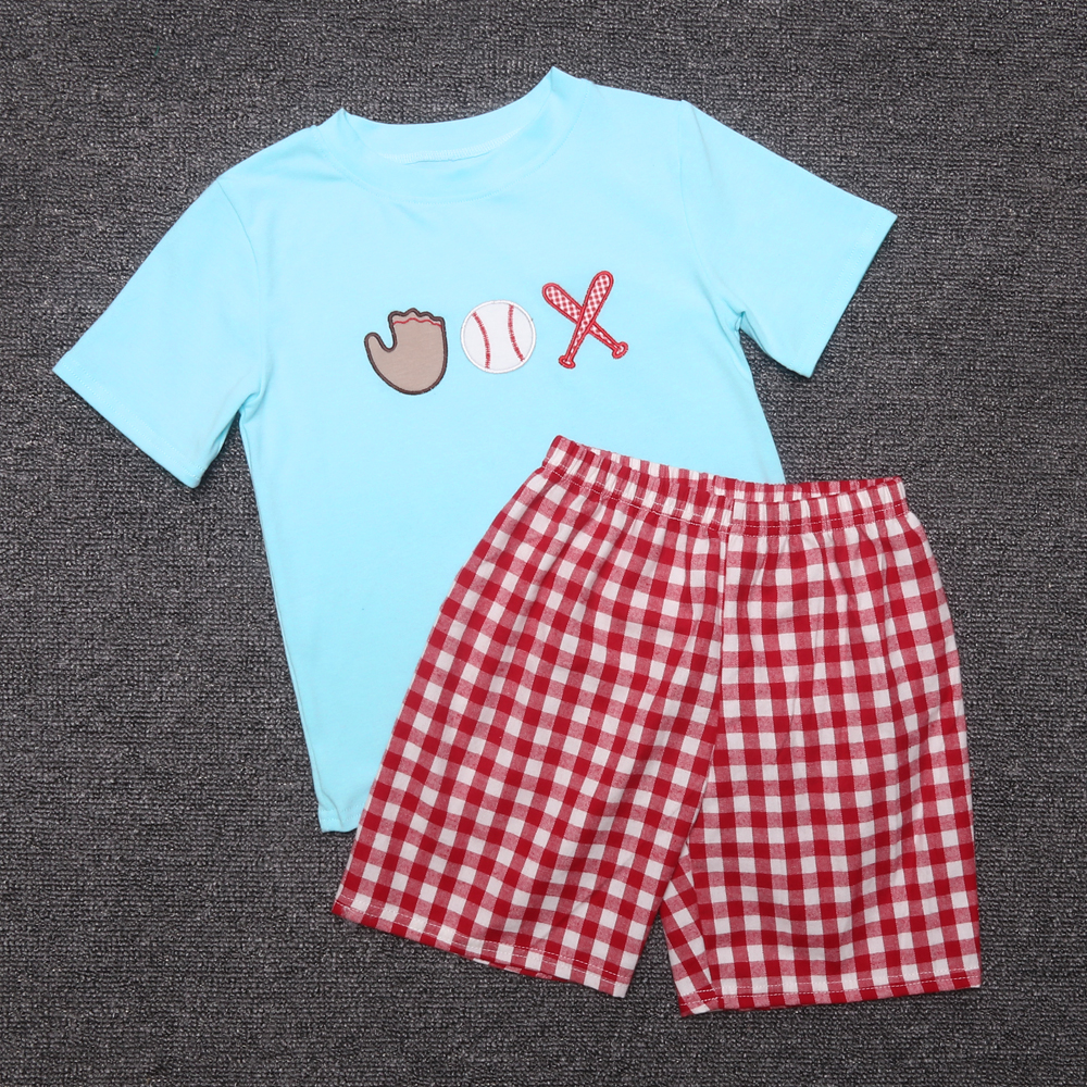Summer Girls Clothes Woven Baby Clothing Embroidery Baseball Sets Kids Remake Outfits