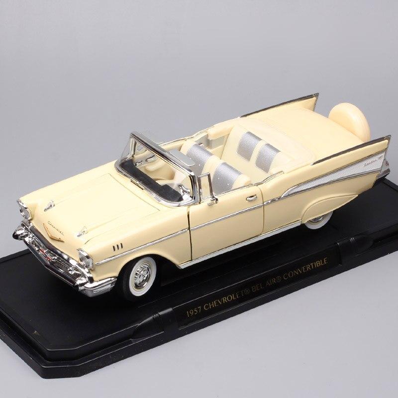 1/18 весы большой классический 1957 CHEVROLET BEL AIR Кабриолет chevy Diecasts вагон игрушки автомобили мышцы модели автомобилей дорожные подписи