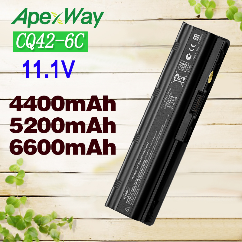 Apexway 6CELLS Battery For hp pavilion g6 battery G4 G6 G7 G62 G62T G72 MU06 HSTNN-UBOW Presario CQ42 CQ56 CQ62