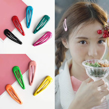 1pcs 5cm Snap Hair Clips for Hair Clip Pins BB Hairpins Color Metal Barrettes for Baby Children Women Girls Styling Accessories(China)