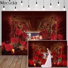 Mocsicka День Святого Валентина красная роза фон для фотосъемки