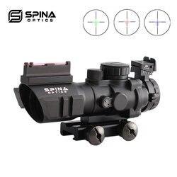 Прицел с красной точкой Acog 4x32, тактический оптический прицел, прицельная сетка RGB с Рельсом 20 мм для страйкбольных пистолетов, охотничий при...