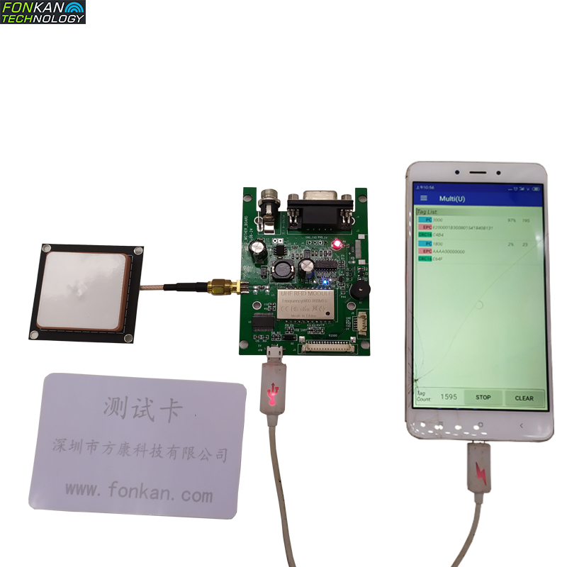 FONKAN 915MHz UHF RFID Development Kit With Long Range Integrated Module For Android OS