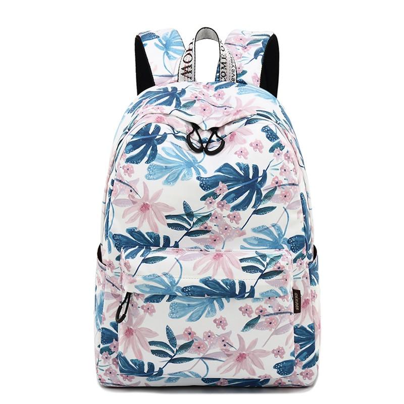 CIKER Women Backpacks Floral Print Bookbags Canvas Backpack School Bag For Girls Rucksack Female Travel Backpack Mochila 2018