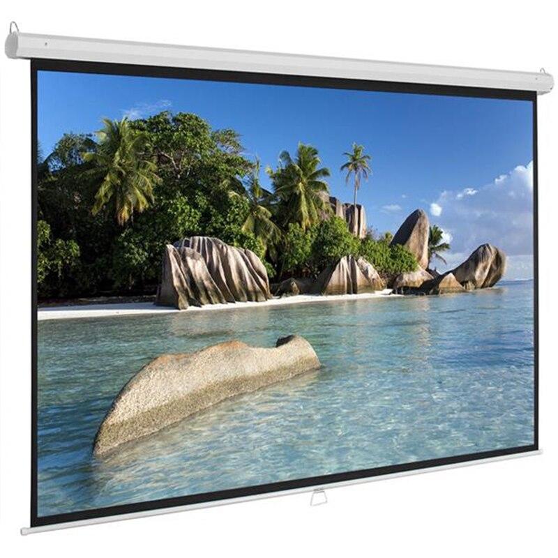 Écran de Projection pliable SOONHUA 84 pouces Ultra HD blanc mat 16:9 écran de Projection manuel pour cinéma maison